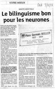 bilinguisme et neurones